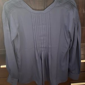 Pleated blouse with tie-back